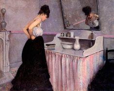 Gustave Caillebotte - Femme à sa toilette