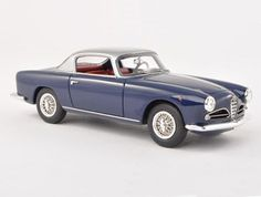 Neo 1:43 Alfa Romeo 1900 Resin Model Car 45030 This Alfa Romeo 1900 CSS Touring (1956) Resin Model Car is Dark Blue and features comes in a display case. It is made by Neo and is 1:43 scale (approx. 9cm / 3.5in long).