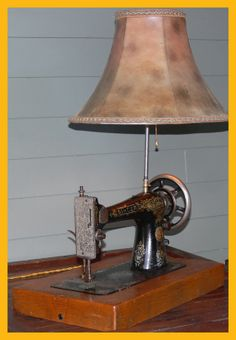 Singer Sewing Machine Table Lamp - Sew GREAT  and SEW COOOOL