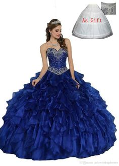 New Sexy Royal Blue Cheap Quinceanera Dresses 2017 Ball Gown Sweetheart 16 Cheap Beaded Lace-Up Vestidos Debutante Gown QC248 Quinceanera Dresses Quinceanera Dresses 2017 Quinceanera Gowns Online with $152.0/Piece on Juliaweddingdresses's Store | DHgate.com