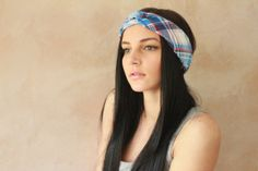 Turban Twist - Turban Headband, Sweatband, Twisted Headband, Headwrap, Fabric Hairband, Headscarf - Tarten Print