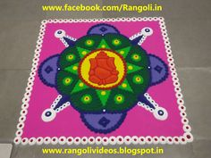 Ganesha Rangoli, Hindu Festivals, Rangoli Designs, Folk Art, Kids Rugs, Watch, Holiday Decor, Youtube, Home Decor