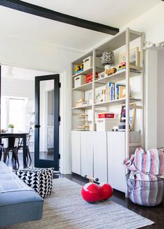 How To Style A Playroom Shelf