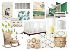 Newest designs {big boy room and a nursery}, cactus print, mudcloth changing pad, palm print pillow
