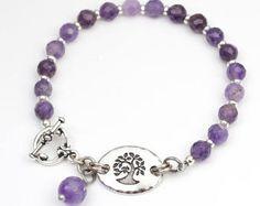Sunstone tree bracelet semiprecious stone beads warm golden