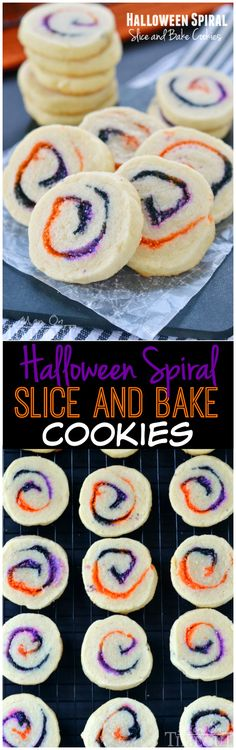 These Halloween Spiral Slice and Bake Cookies are the perfect, easy treat for your Halloween celebrations!