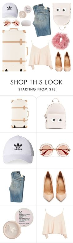 """"""" Airport"""" by lunalikebook ❤ liked on Polyvore featuring Anya Hindmarch, adidas, Gucci, Citizens of Humanity, Maison Margiela, The Body Shop, Topshop, Nanà Firenze and airportstyle"""