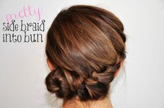 With the summer just around the corner, simple updos like this pretty side braid can be quite the time saver and will always put an end to a bad hair day.