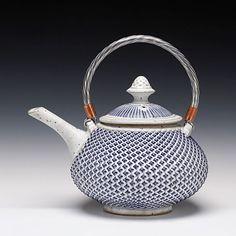 Mark Williams - Teapot - textured stoneware and glazes