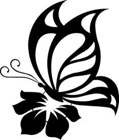 Details about Butterfly Cute Sexy Girly Car Truck Window Vinyl Decal Sticker 10 COLORS - Kathya Coutto Butterfly On Flower, Butterfly Stencil, Stencil Patterns, Stencil Art, Stenciling, Tattoo Foto, Girly Car, Kirigami, Silhouette Design