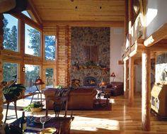 : Milled Log Homes » Cascade Milled Log Home » Cascade Great Room
