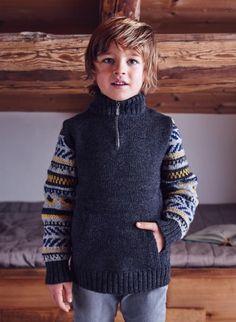 Cat. 16/17 - #325 Trucker-collar sweater  Patterns