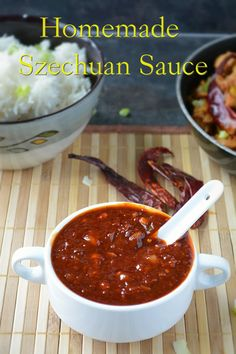 Homemade Szechuan Sauce recipe. Just be sure to use gluten free tamari in place of soy sauce.