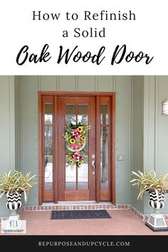 Refinishing any door sounds like an arduous task doesn't it? The thought of stripping the old stain and finish, sanding the wood, cleaning the wood and then re staining a wood door is a lot. I'm here to show you how to refinish a wood door the easy way in just a few hours. Diy Projects On A Budget, Diy Wood Projects, Home Projects, Modern Farmhouse Style, Farmhouse Style Decorating, Farmhouse Decor, Diy Door, Wood Doors, Home Improvement Projects