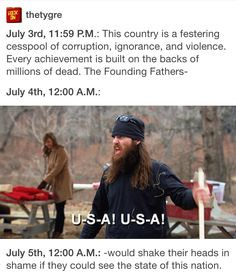 : This country is a festering cesspool of corruption, ignorance, and violence. Every achievement is built on the backs of millions of dead. The Founding Fathers- July A.: July A.: -wouId shake their heads in shame Dankest Memes, Funny Memes, America Memes Funny, Ohio Memes, Bad Memes, Funny Cute, Hilarious, Excuse Moi, Funny Pins