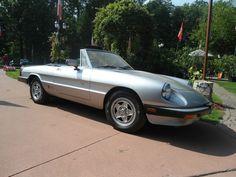 1984 Alpha Romeo Spider Silver color