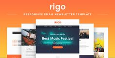 Rigo - Responsive Email Newsletter Template  #email #newsletter #emailtemplate #newslettertemplate