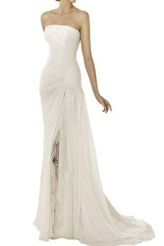 Angel Bride 2014 New Dresses Wedding Dresses Strapless Long Dresses Chiffon White- US Size 4 Angel Bride http://www.amazon.com/dp/B00JZE2MTE/ref=cm_sw_r_pi_dp_Z9zpub0CNYFXT