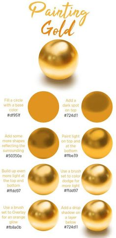 An easy step by step tutorial about how to paint gold in Procreate, Photoshop or any other digital painting program. Check the article on my website for the full step by step digital art tutorial. art tips How to Paint Gold - Digital Art Tutorial Digital Art Tutorial, Digital Painting Tutorials, Painting Tips, Art Tutorials, Digital Paintings, Drawing Tutorials, Matte Painting, Sketch Painting, Ipad Art