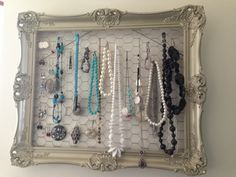 DIY display for all the jewelry i've earned from my business!
