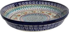 Polish Pottery Dish Pie Plate 10 From Zaklady Ceramiczne Boleslawiec  number879-du71 Unikat Pattern, Height: 1.8 Diameter: 10 ** Startling review available here at : bakeware