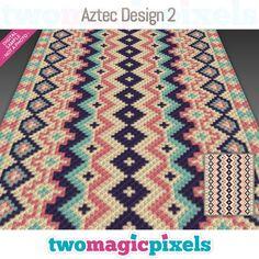 Aztec Design 2 graph for crochet Mini C2c Crochet Blanket, Crochet Afgans, Crochet Blankets, Tapete Floral, Tapestry Crochet Patterns, Bobble Stitch, Manta Crochet, Aztec Designs, Crochet Cross