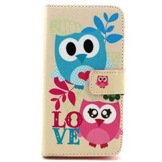 For Apple Iphone 5 / 5S Case Leather Wallet Owl Dog Elephant Painting Style Card Slot Stand Function Cover Cases For iphone5