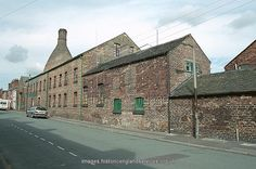 Main range of pottery works, now visitor centre and factory shop. IoE 384378