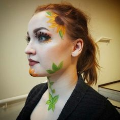 I did this Van Gogh inspired look at school.