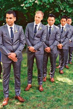 Groomsmen Attire For Perfect Look On Wedding Day ❤ See more: http://www.weddingforward.com/groomsmen-attire/ #weddings