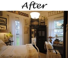 Farmhouse Bedroom before and after