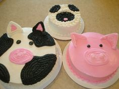 farm animal cake parties-to-be-hosted Animal Birthday Cakes, Farm Animal Birthday, Farm Birthday, Birthday Ideas, Birthday Recipes, Birthday Bash, Birthday Parties, Cow Cakes, Cupcake Cakes