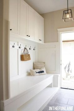 Mud Room - our future home will have something very similar to this from the garage to the living area.