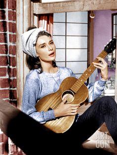 BREAKFAST AT TIFFANY'S, Audrey Hepburn, 1961 Premium Poster at Art.com