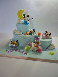 baby disney-world! – Cake by Diletta Contaldo baby disney-world! – Cake by Diletta Contaldo Bolo Do Mickey Mouse, Mickey Mouse Clubhouse Cake, Mickey And Minnie Cake, Bolo Minnie, Mickey Cakes, Minnie Mouse Cake, Baby Cakes, Baby Shower Cakes, Cupcake Cakes