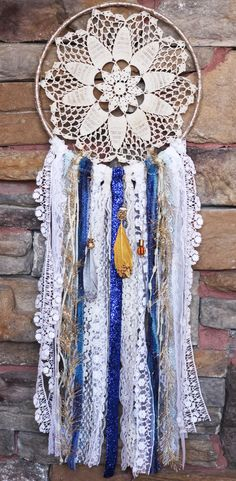 Doily Dreamcatcher Mermaid Tide by DesertMermaidStore on Etsy