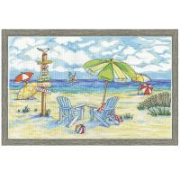 Beach Signs Counted Cross Stitch Kit