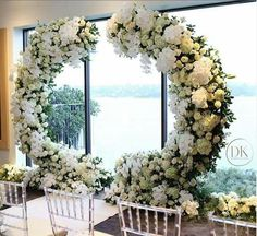 Wedding Backdrop Floral Chuppah New Ideas Wedding Ceremony Ideas, Wedding Altars, Wedding Stage, Wedding Reception, Floral Wedding, Wedding Flowers, Trendy Wedding, Arco Floral, Floral Arch