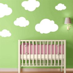 wall decals turn ho-hum into wow in this simple nursery design.