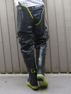 Hip protectors Mens High Boots, Rubber Raincoats, Rain Wear, Leather Pants, Hipsters, Guys, Latex, Europe, Black