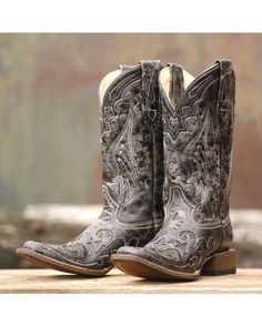 Corral Women's Vintage Black Python Inlay Cowgirl Boot