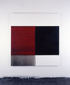 2004 Exposed Painting Charcoal Black on Red Oil on canvas | 174.5 x 162.5 cm
