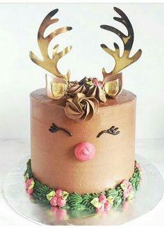 Reindeer Cake | Winter Cake | Holiday Cake