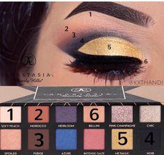 Instagram Makeup Looks, Anastasia Makeup, Bellini, Pink Champagne, Eyeshadow, Peach, Lips, Makeup Tutorials, Beauty