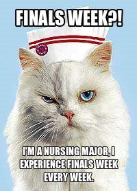 finals week is every week for nursing students. yep.
