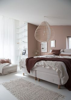 My dream bedroom update: Sandö bed from the Swedish brand Carpe Diem . - My dream bedroom update: Sandö bed from the Swedish brand Carpe Diem … - Pink Bedroom Decor, Cozy Bedroom, Bedroom Colors, Dream Bedroom, Modern Bedroom, Master Bedroom, Swedish Bedroom, Bedroom Ideas, Brown Bedroom Walls