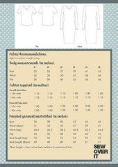 Sew Over It Cowl Neck Dress PDF Sewing Pattern - envelope back