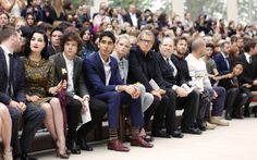 Front row at the Burberry Prorsum Womenswear Spring/Summer 2013 show