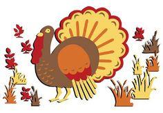 Tommy Turkey Thanksgiving Window Clings