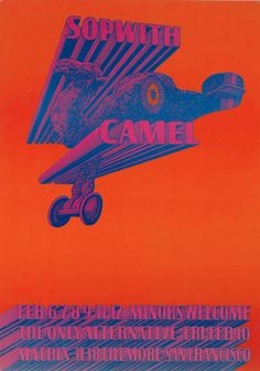 Psychedelic poster by Víctor Moscoso (b. 1936, spain), 1967, Sopwith Camel, San Francisco, Lithography.